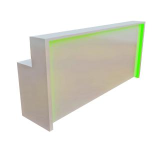 Custom Made Paint Finish Reception Desk | Garnet Furniture