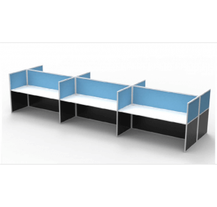 Cluster Of 6 Face To Face Work Station With 6 Cm Thickness