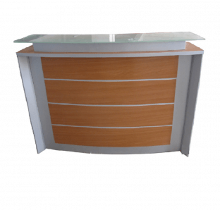 Custom Made Curved Reception Desk | Garnet Furniture