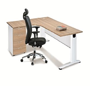 BJS Metal Curved Executive Desk