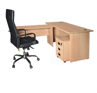 Mars Executive L-shape Desk | Garnet Furniture