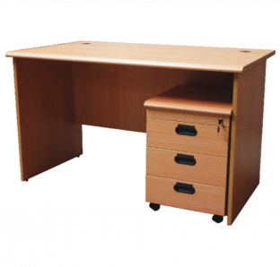 Mars Executive Desk with Three Drawer mobile pedestel