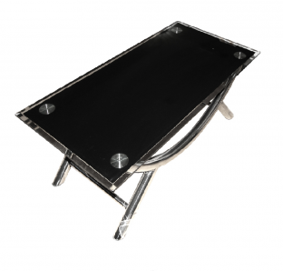 Metal legs Coffee Table With Glass On Top