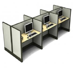 Cluster of 6 Work Station