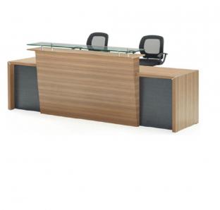 Custom Made Reception Desk In Veneer Finish