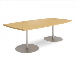 Custom Made Boat Shaped Meeting Table