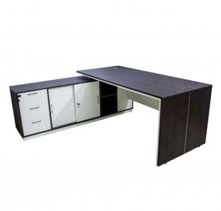 L-Shape Executive Desk(BIRK-1818) | Garnet Furniture