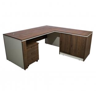 L-Shape Executive Desk(ALDER-1818) | Garnet Furniture