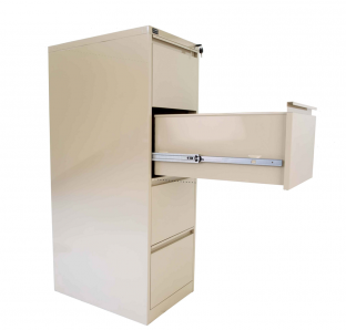 Metal Four Drawer Filing Cabinet