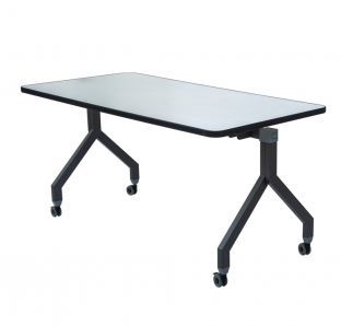 Folding Table in Metal Leg