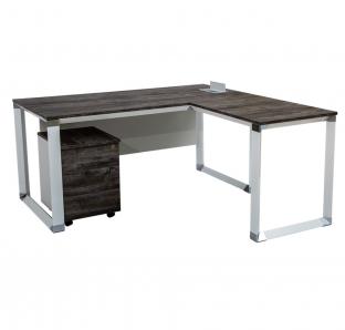 L-Shape Executive Desk In TF130 Series | Garnet Furniture
